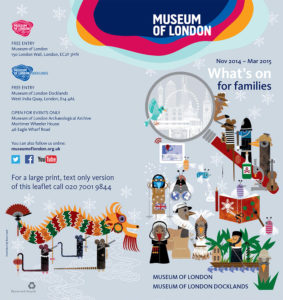 Museum of London 2014/15 winter leaflet